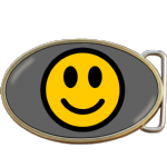 Smiley Face Belt Buckle. Code A0047